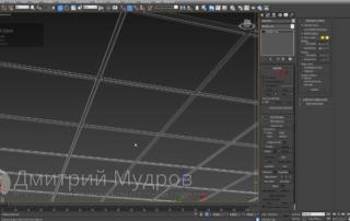 Модульный потолок армстронг 3d max
