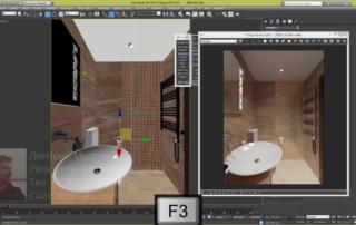 Создание мозаики на стене ванной комнаты в 3ds max