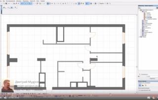 План квартиры Archicad