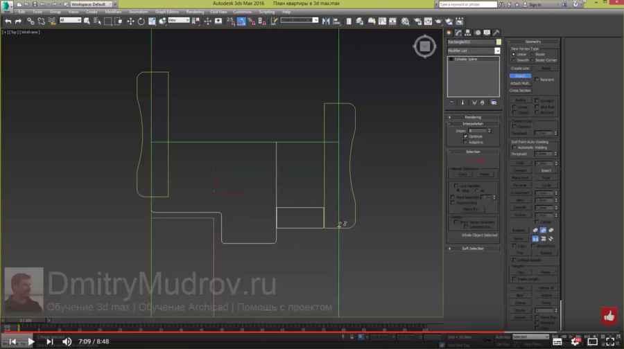 8 Создание межкомнатной двери в 3d max - ч.2