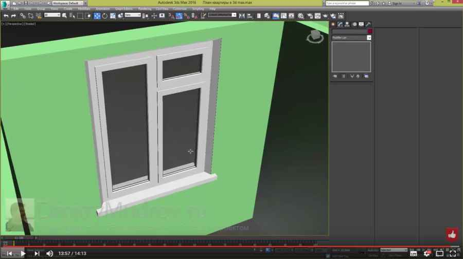 Создание окна в 3d max - ч2