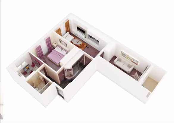 Визуализация перспективного изображения квартиры в 3d max