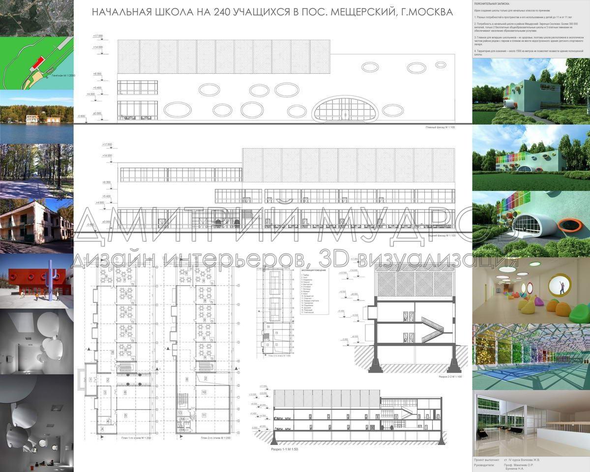 Репетитор d max archicad Обучение d визуализации интерьера Курсовой архитектурный проект школы