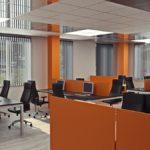 3d визуализация офисного интерьера в присутствии заказчика