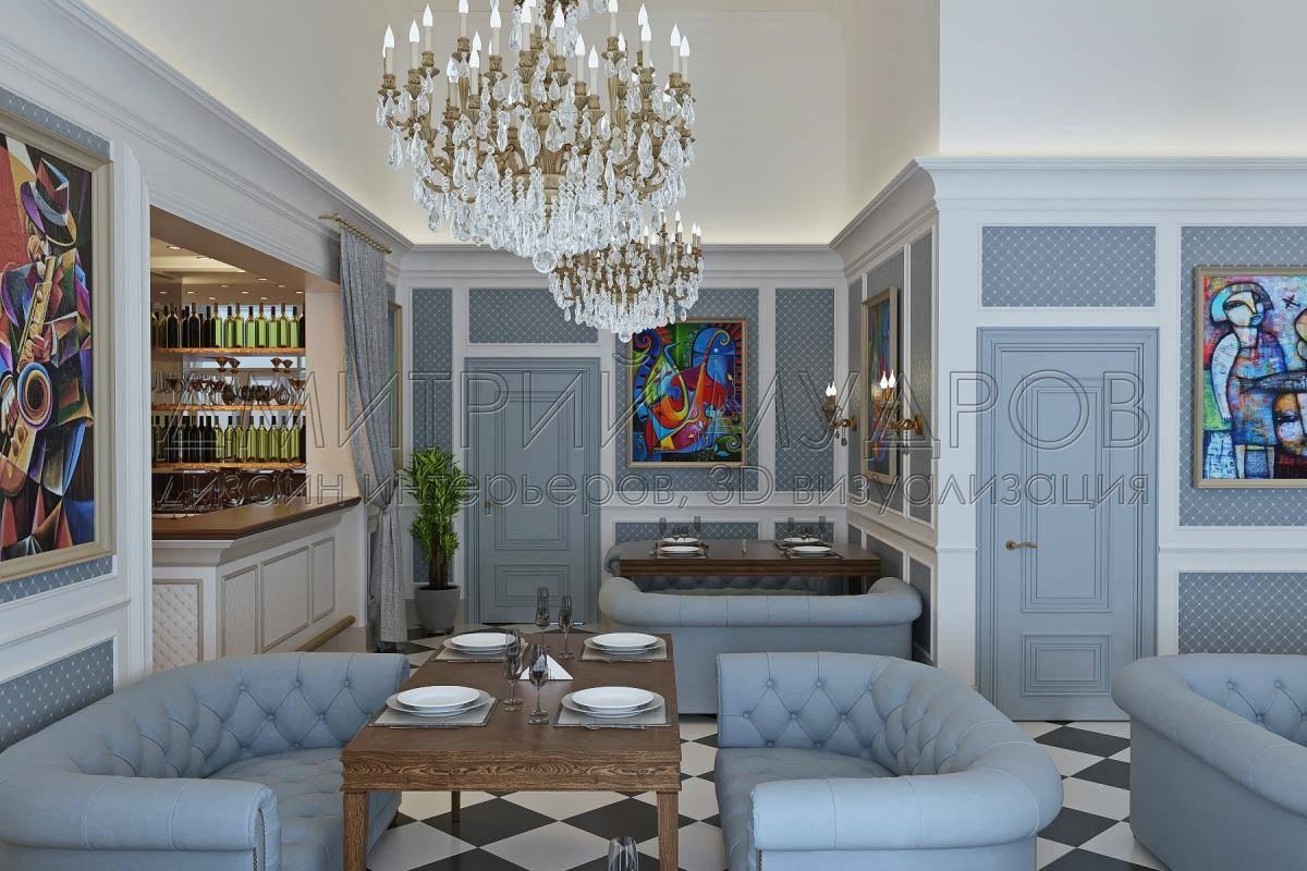 дизайн и 3d визуализация ресторана на заказ